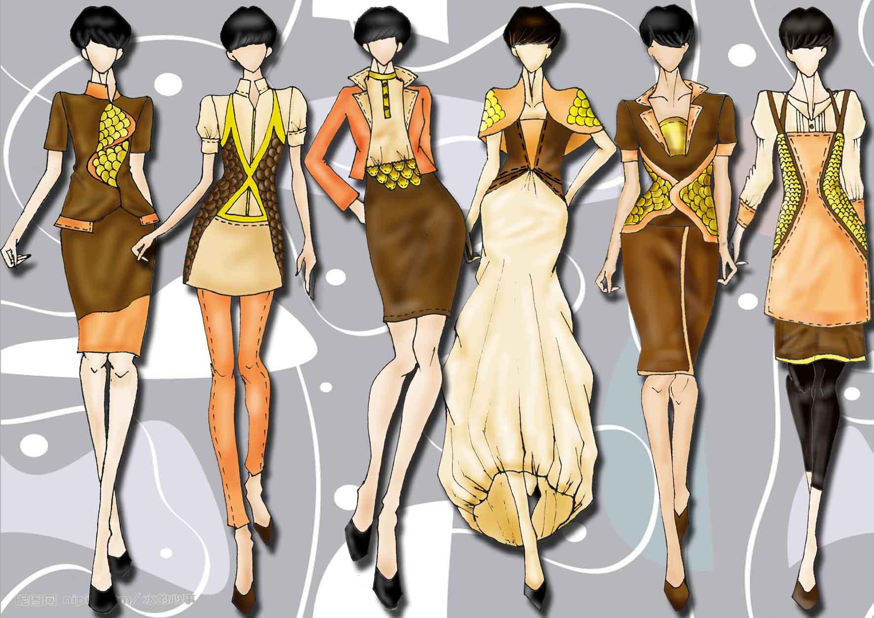 大学服装设计图简历